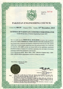 PEC License Constructor C-A CA No Limit Contractor