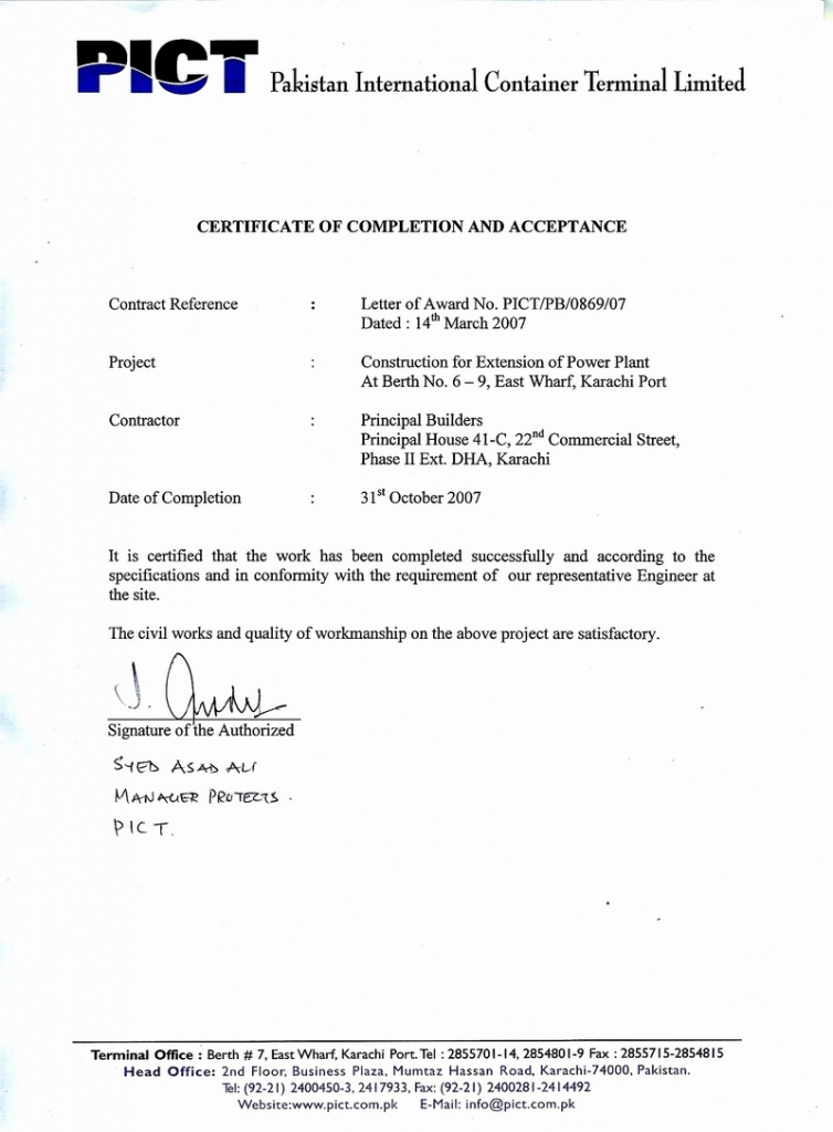 Principal engineers constructors awards certificates completion certificate thecheapjerseys Gallery