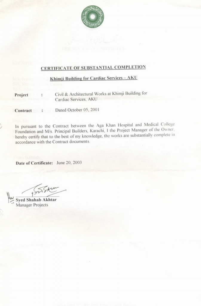 Project Completion Certificate For College Students Kardas